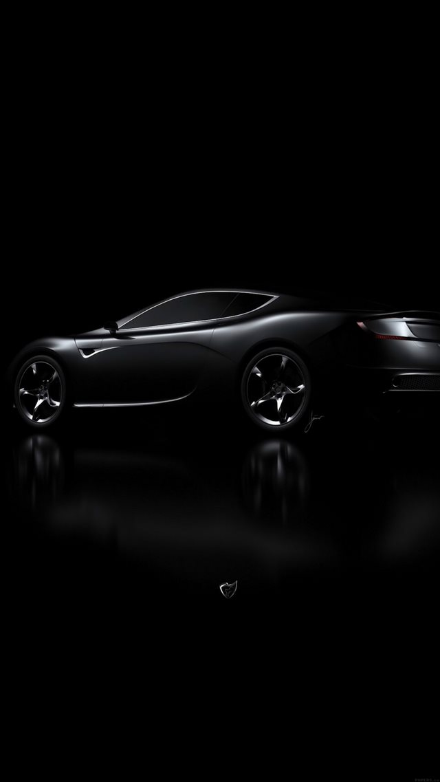 Aston Martin Black Car Dark iPhone 8 wallpaper