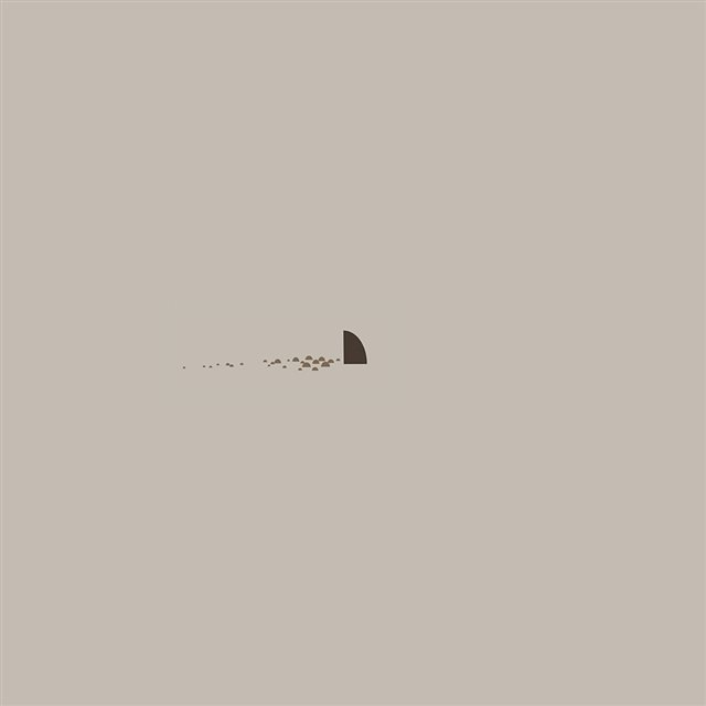 Minimal Simple Shark Sea Illust Art Cute iPad wallpaper