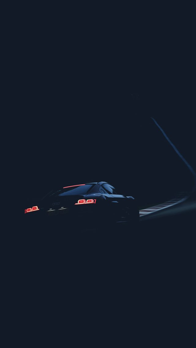 Audi Car Drive Blue Dark Road Street iPhone 8 wallpaper