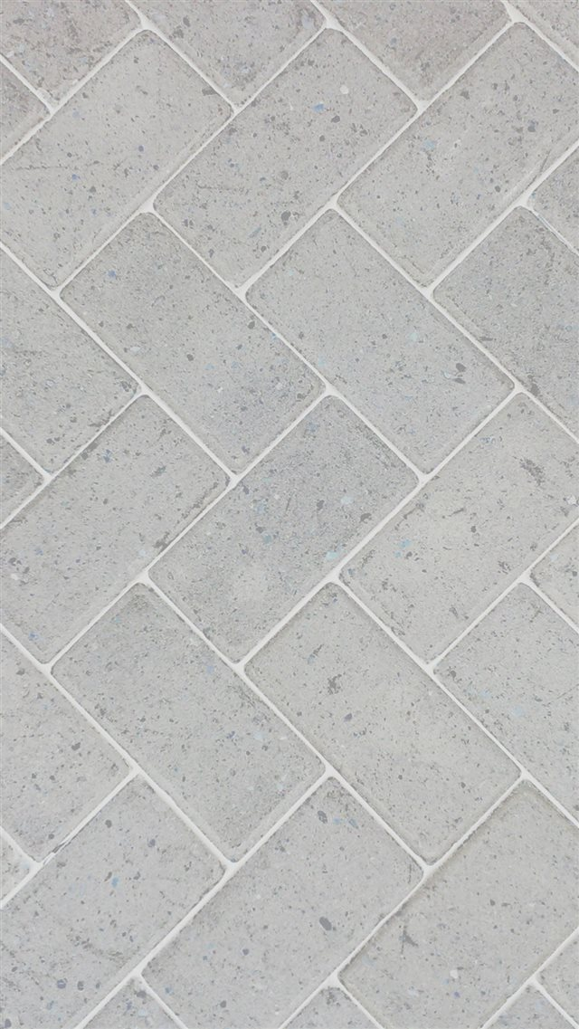 Brick Road White Patterns iPhone 8 wallpaper