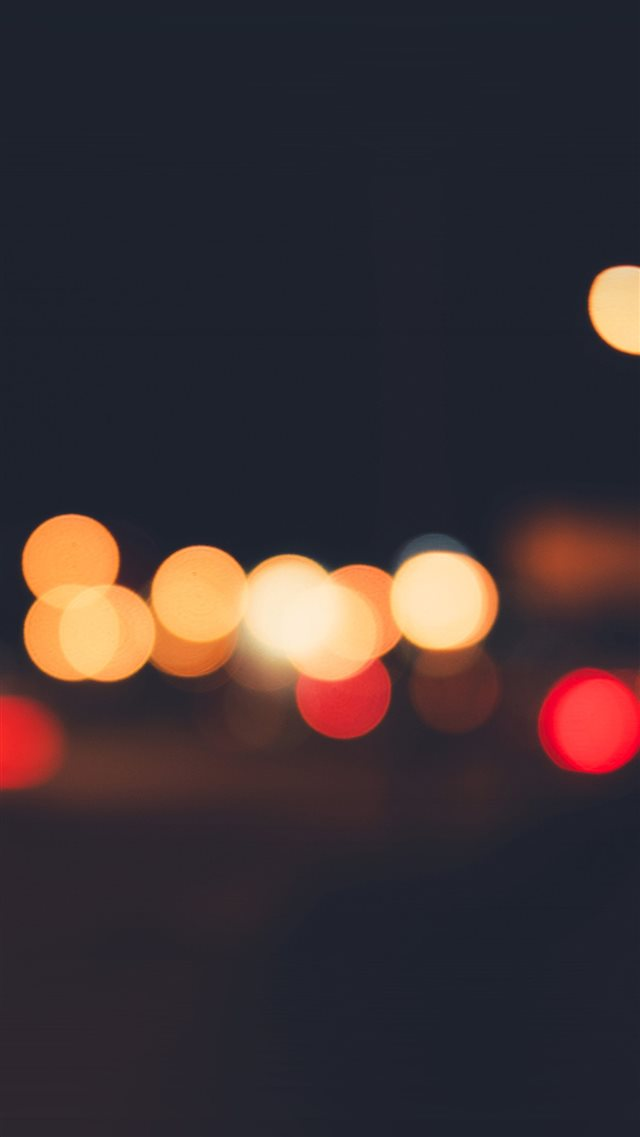 Lights Bokeh Night Blur Pattern iPhone 8 wallpaper