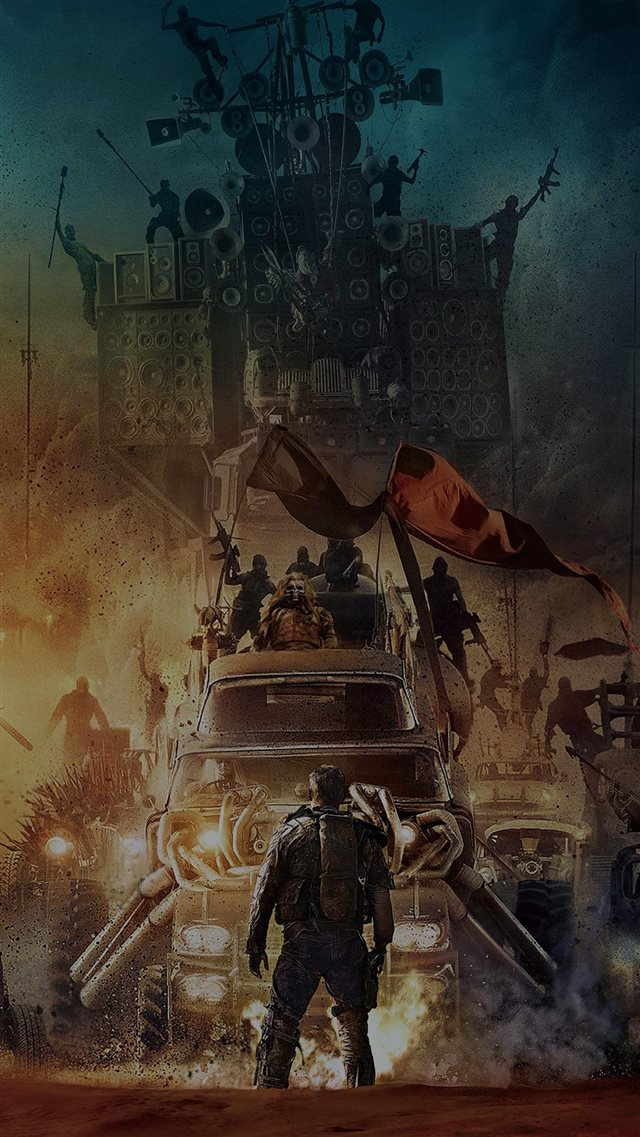 Poster Mad Max Furyroad Art Illust Dark iPhone 8 wallpaper
