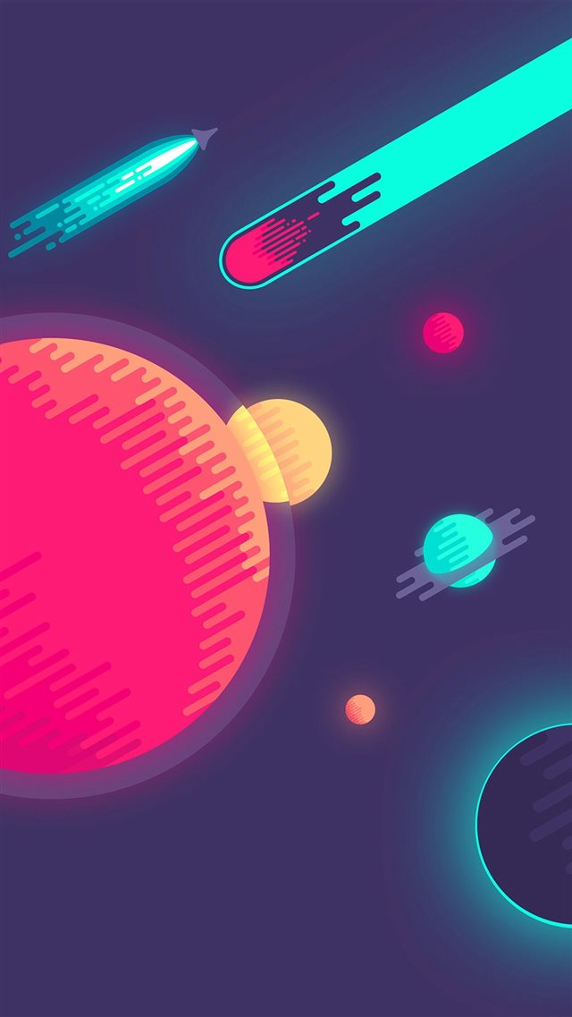 Space Minimal Art Illustration iPhone 8 wallpaper