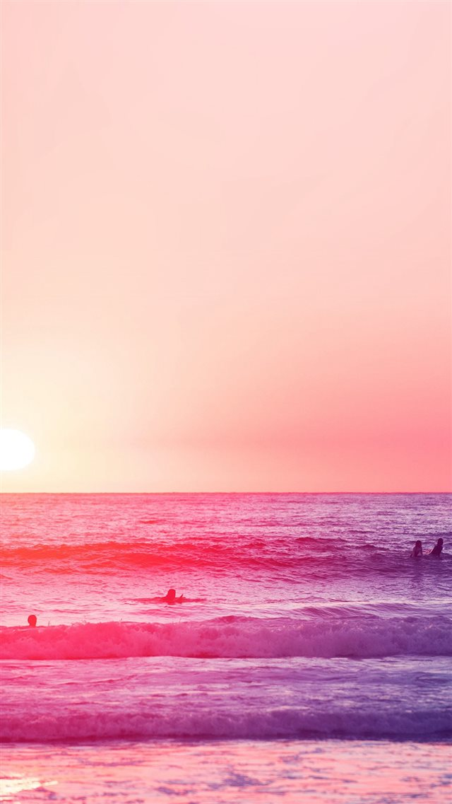 Happy Beach Sea Holiday Nature Fun City Pink iPhone 8 wallpaper