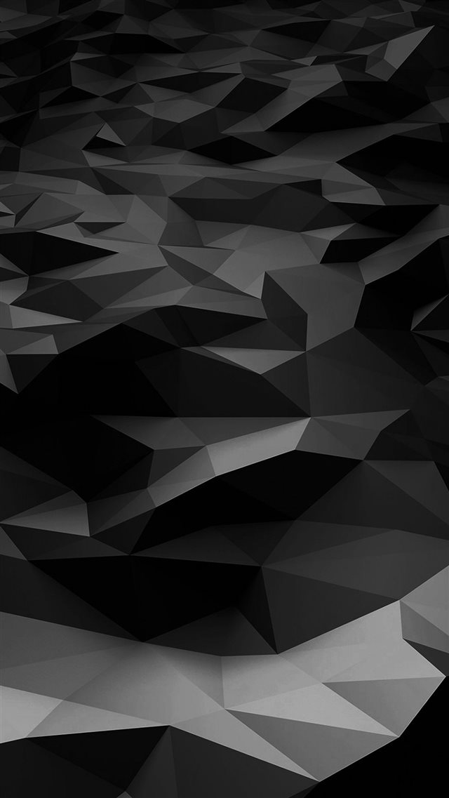 Low Poly Art Dark Bw Pattern iPhone 8 wallpaper