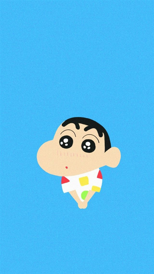 Crayon Shin Chan Shy Cute Lovely iPhone 8 wallpaper