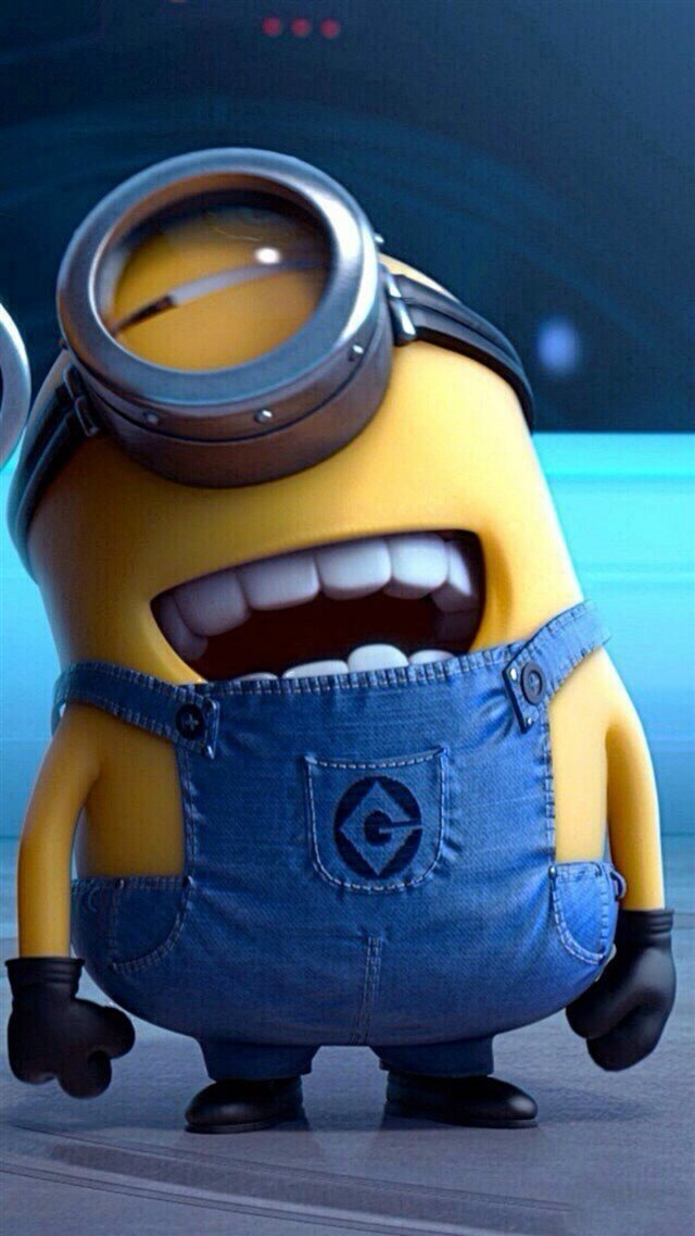 Funny Movie Cartoon Minion iPhone 8 wallpaper