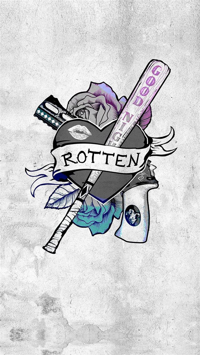 Harley Quinn Suicide Squad Logo Hero Art Illustration iPhone 8 wallpaper