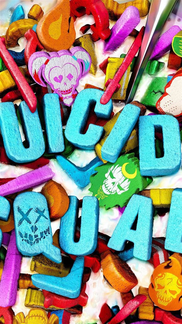 Suicide Squad Corn Meal Food Art Illustration iPhone 8 wallpaper
