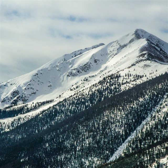 Snow Landscape Mountain Winter Wonderful iPad wallpaper