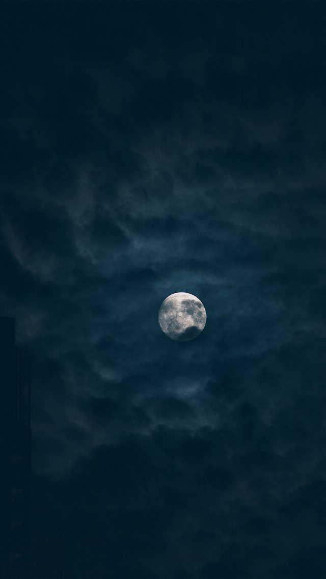 Moon Sky Dark Night Nature iPhone 8 wallpaper