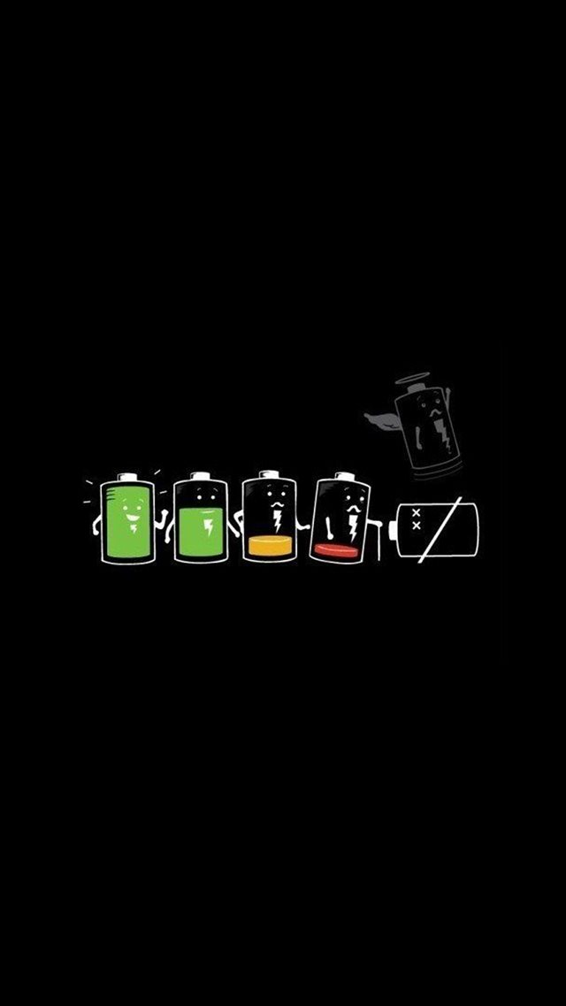 Battery Life Cycle Funny  iPhone 8 wallpaper