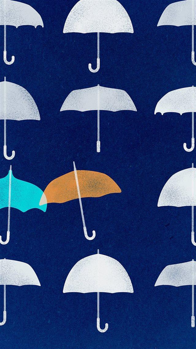 Blue Umbrella Cute Minimal Art Disney Iphone 8 Wallpaper Download