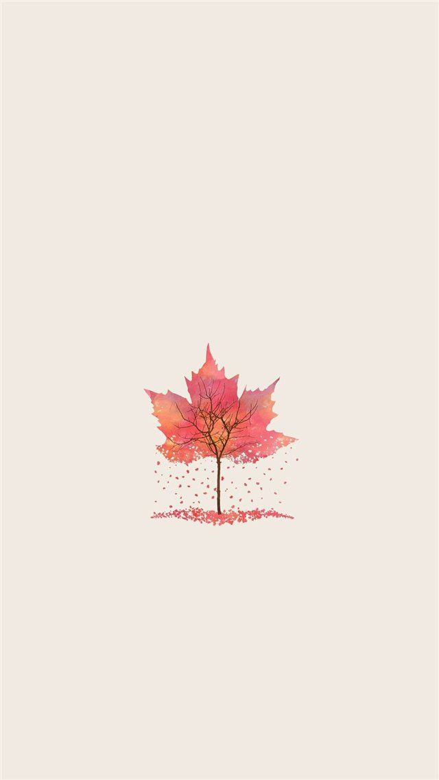 Autumn Tree Leaf Shape Illustration  iPhone 8 wallpaper