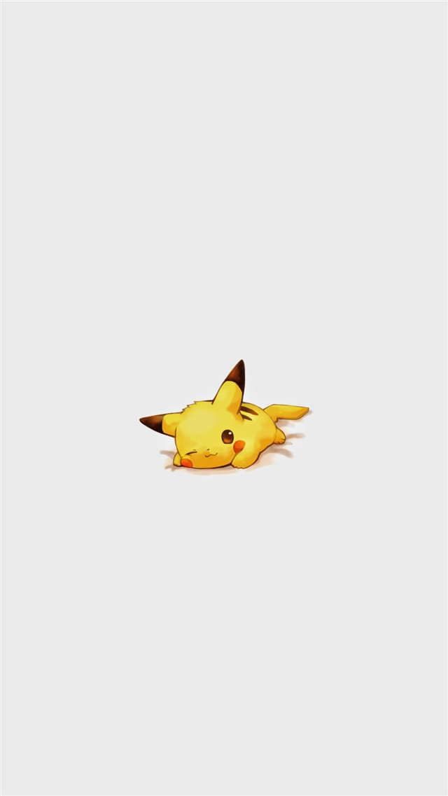 Cute Pikachu Pokemon Character iPhone 8 wallpaper
