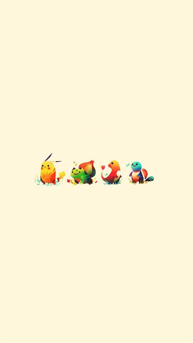 Pokemon Go Anime Game Characters iPhone 8 wallpaper