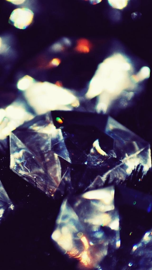 Dark Crystal Diamonds Shiny Macro IPhone 8 Wallpaper Download