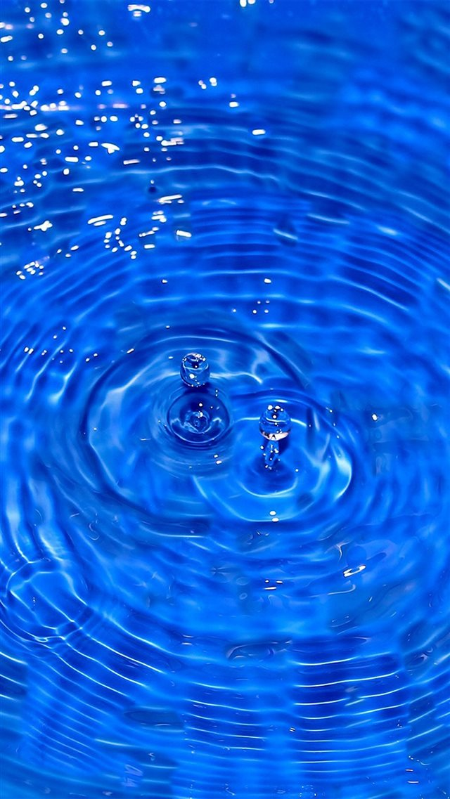 Water Cool Blue Drop Swim iPhone 8 wallpaper