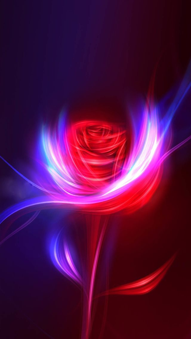 Fantasy Rose Swirl Light Design Art iPhone 8 wallpaper