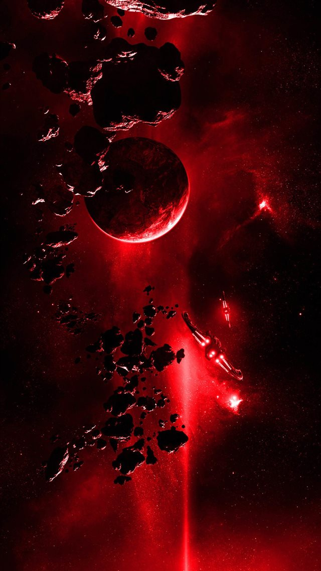Red Light From Space iPhone 8 wallpaper