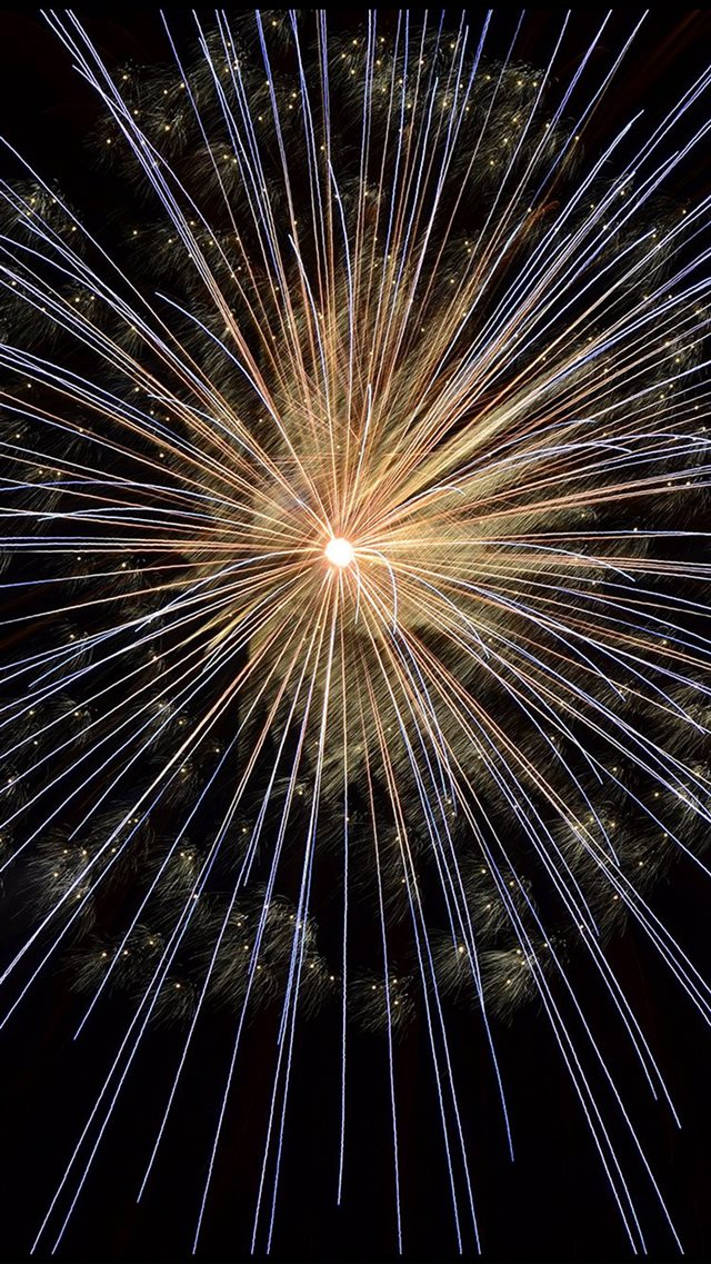 Happy New Year Firework Sky Party Dark iPhone 8 wallpaper