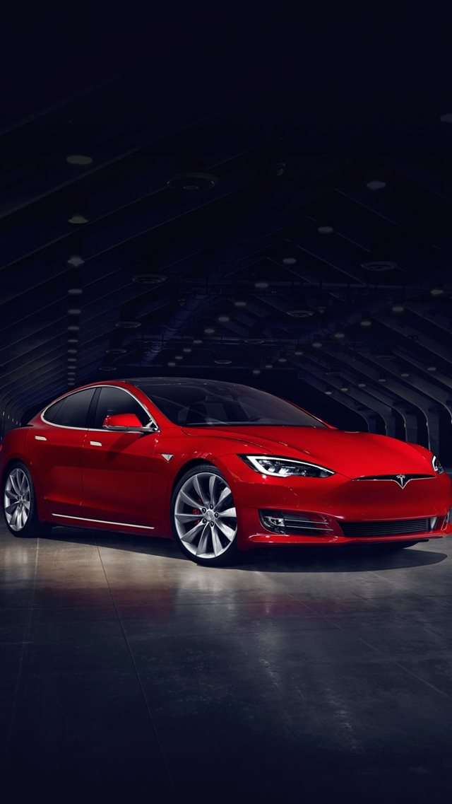 2016 Red Tesla Model S No Grill iPhone 8 Wallpapers Free ...