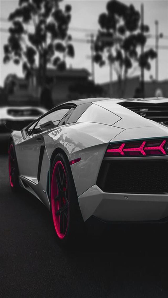 Lamborghini Aventador Sportscar Dark iPhone 8 wallpaper