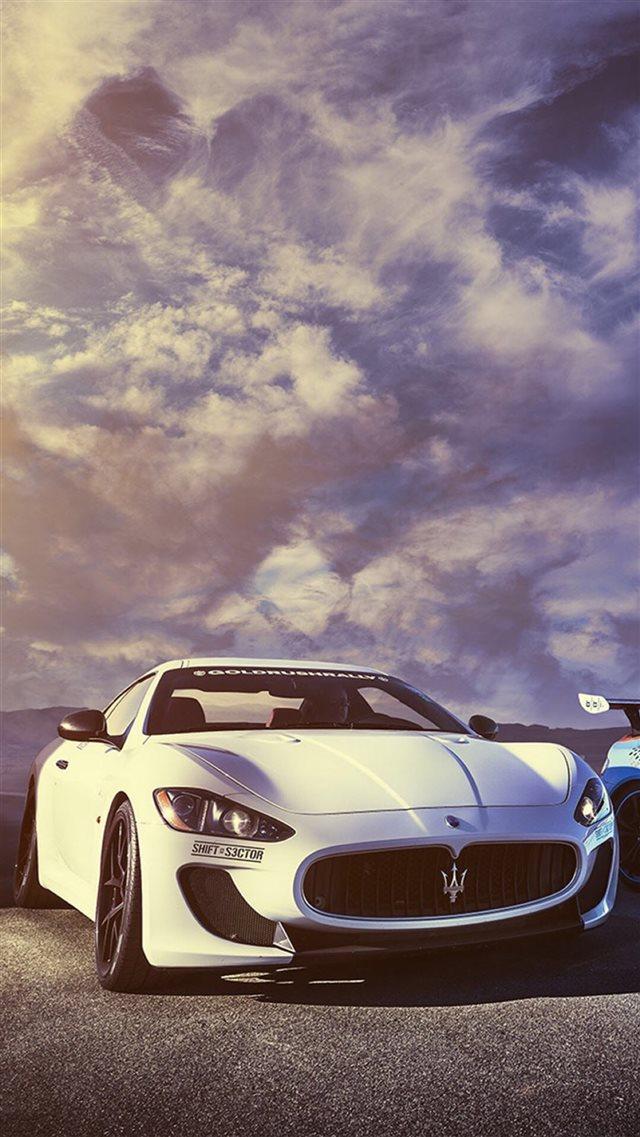 Splendid Maserati Sports Car Sky View Iphone 8 Wallpaper Download
