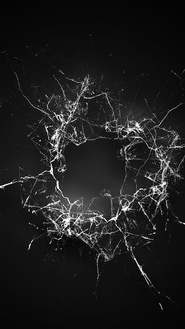 Crack Glass Dark Bw Texture Pattern iPhone 8 wallpaper