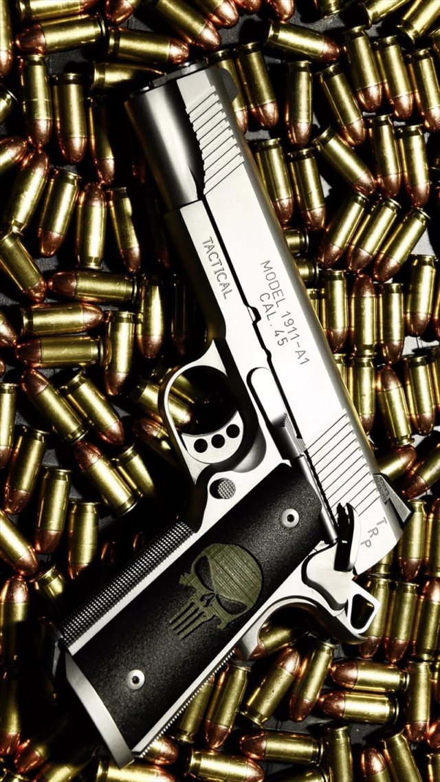Bullet Stack Gun Weapon Military iPhone 8 wallpaper