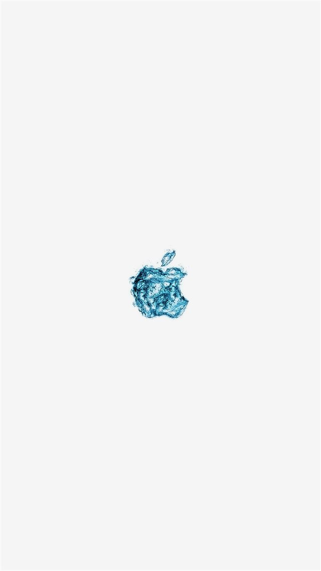 Apple Logo Water White Blue Art Illustration iPhone 8 wallpaper