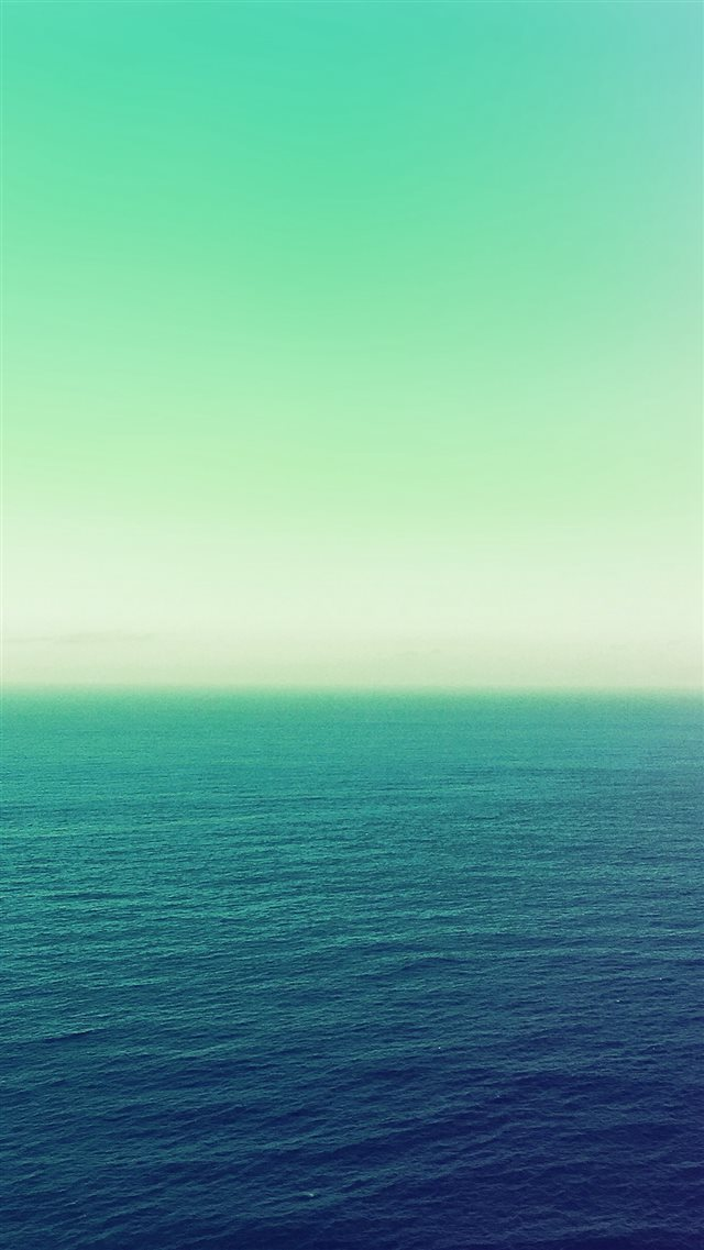 Calm Sea Green Ocean Water Summer Day Nature iPhone 8 wallpaper