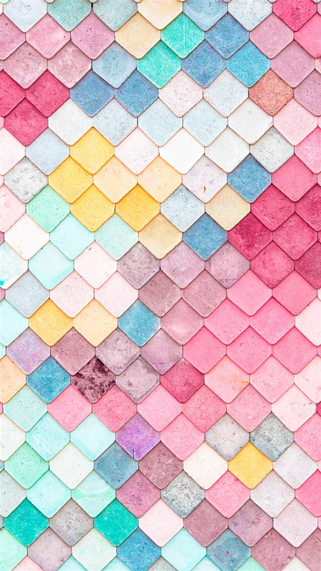 Colorful Roof Tiles Pattern iPhone 8 wallpaper