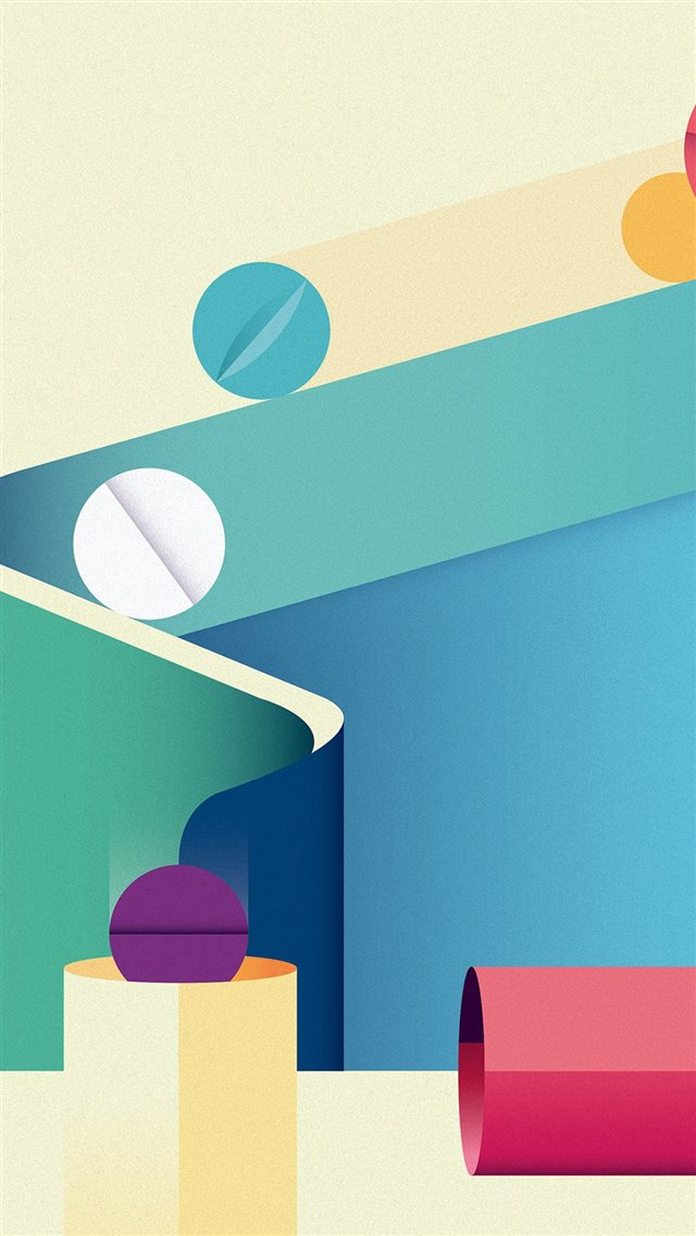 Minimal Painting Color Illustration Art iPhone 8 wallpaper