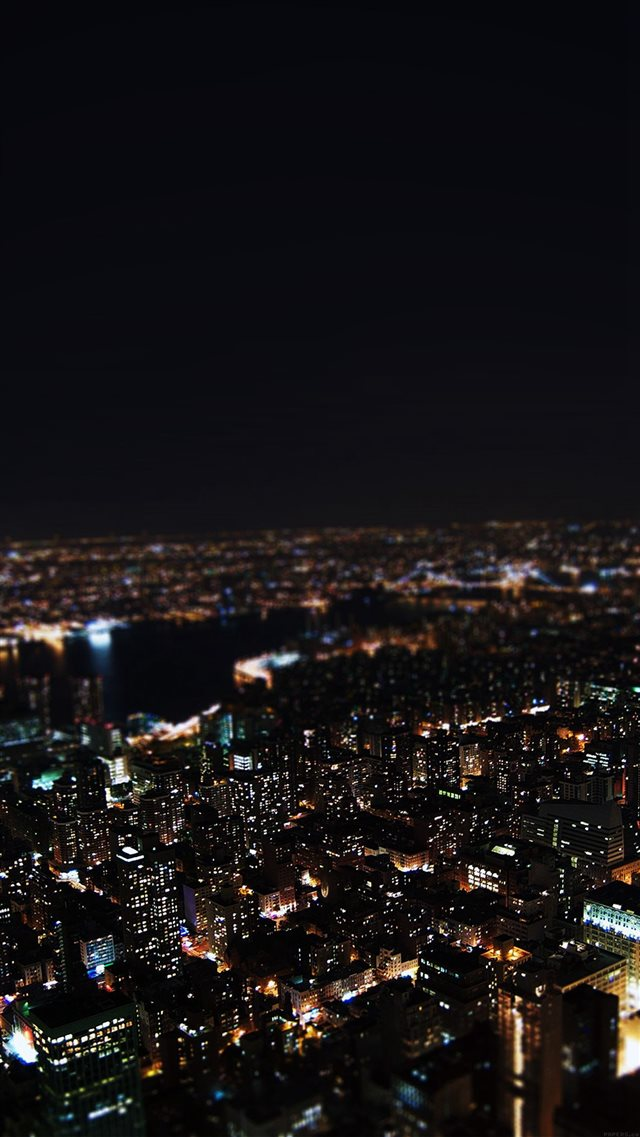 Dark Night City Building Skyview iPhone 8 wallpaper
