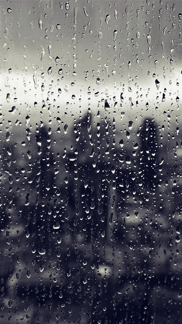 Rain Window Nature Pattern Blue iPhone 8 wallpaper