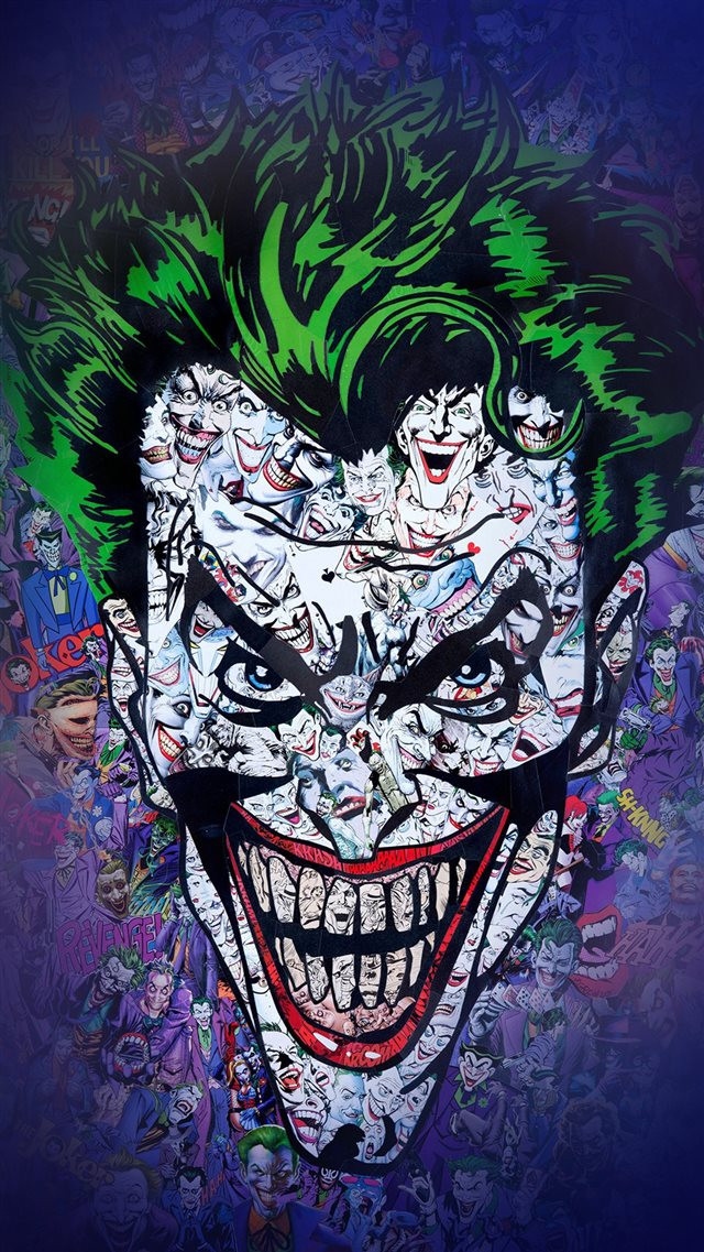 Joker Art Face Illustration Art iPhone 8 wallpaper