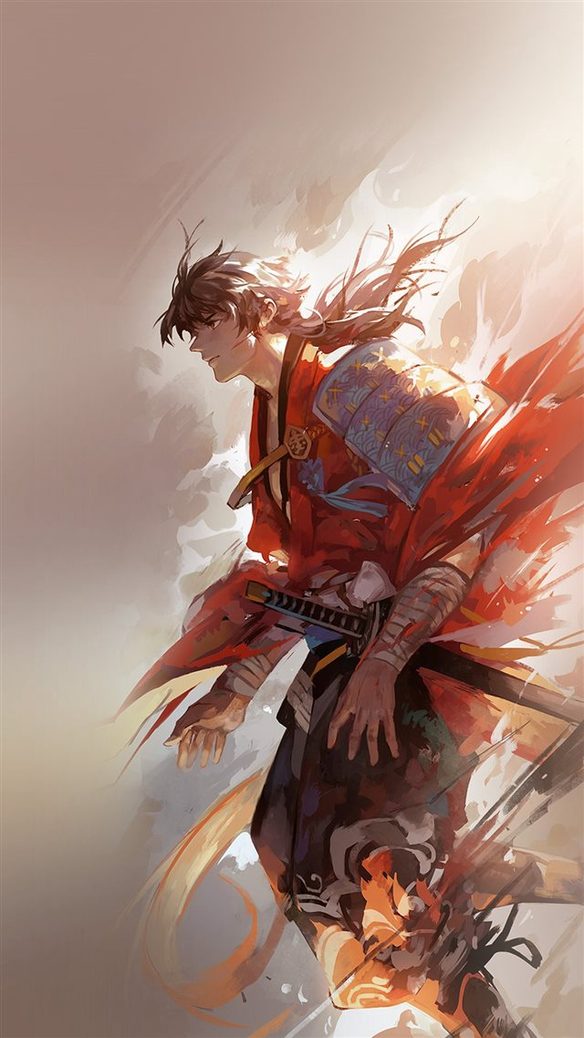 Hanyijie Hero Red Handsome Illustration Art Anime iPhone 8 wallpaper