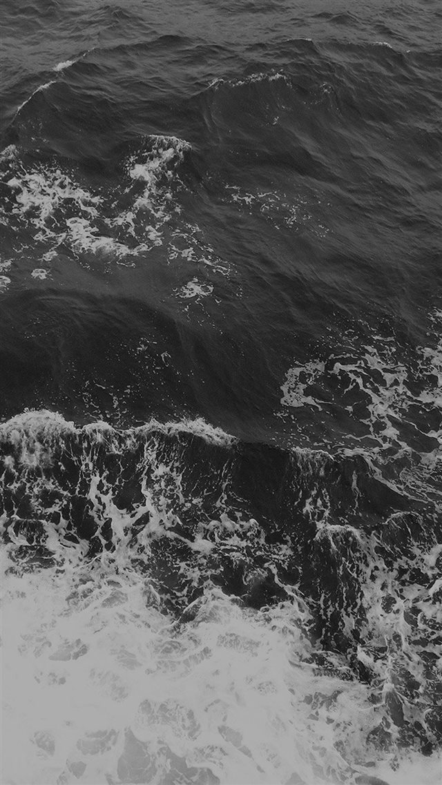 Water Sea Vacation Texture Ocean Beach Dark Bw iPhone 8 wallpaper
