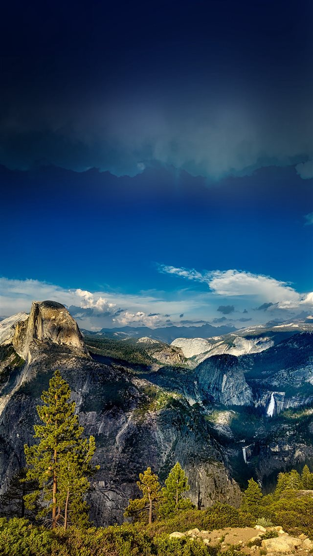 Yosemite Mountain Wood Summer Nature iPhone 8 wallpaper