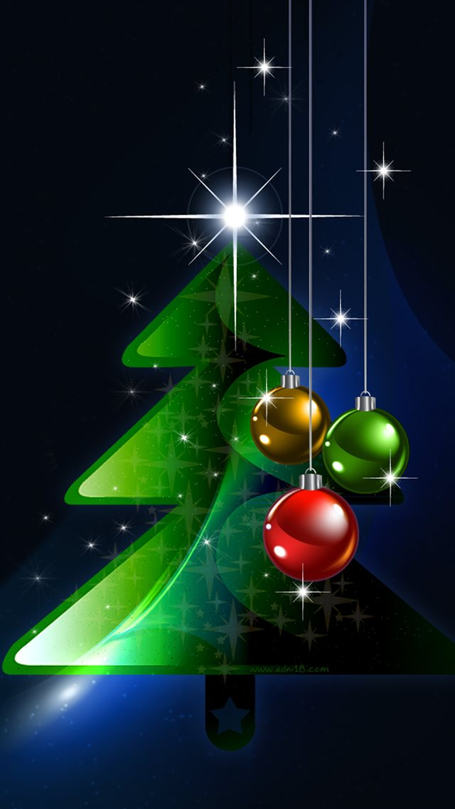 2016 Christmas Tree  iPhone 8 wallpaper