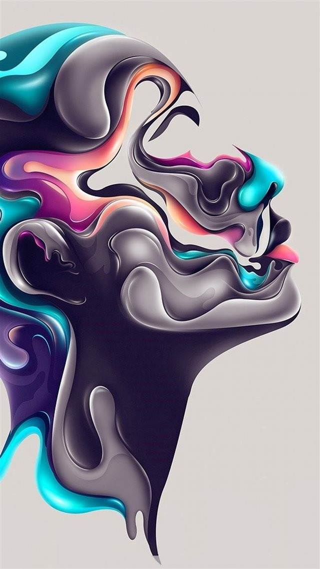 Abstract Design Steel Portrait Art Iphone 8 Wallpapers Free