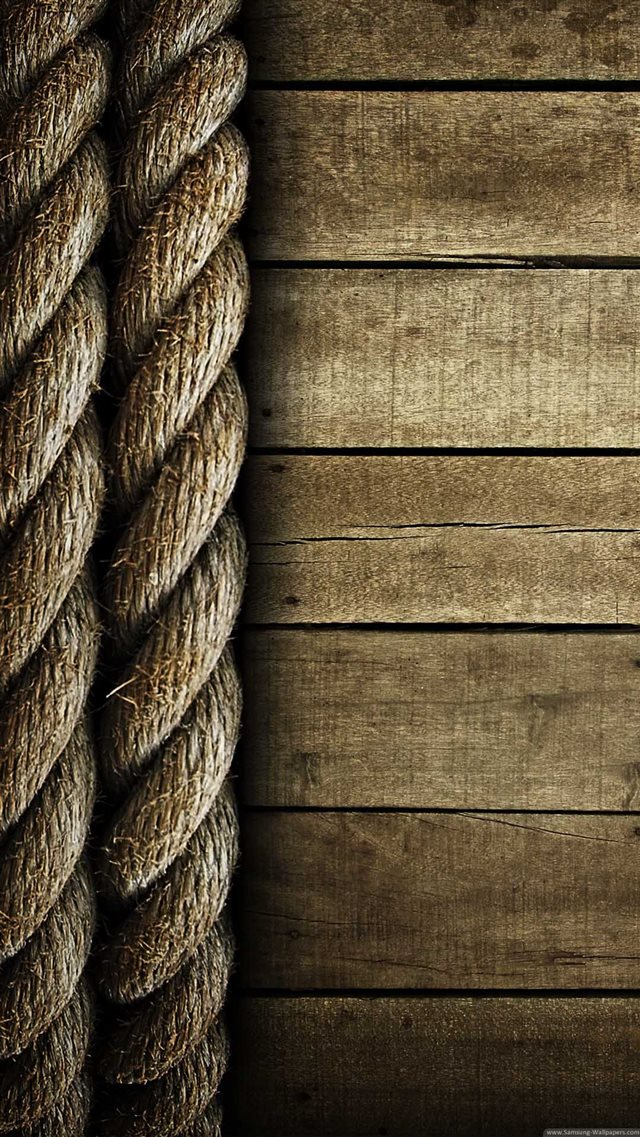 Abstract Wooden Crack Rope iPhone 8 wallpaper