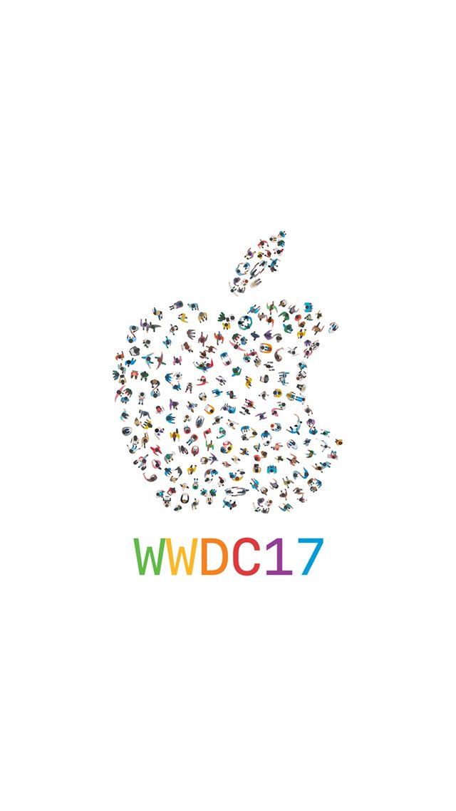 WWDC 2017 Apple Logo Pattern iPhone 8 wallpaper