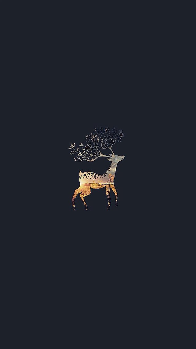 Deer Branch Horns iPhone 8 wallpaper