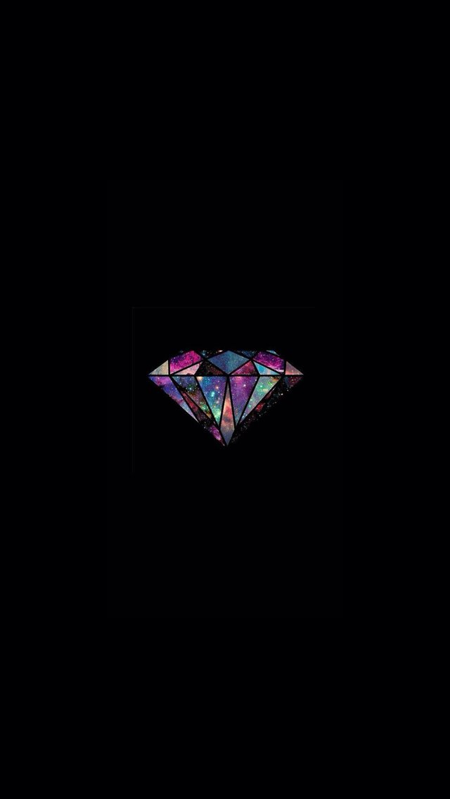 Diamond Universe Minimal Illustration  iPhone 8 wallpaper