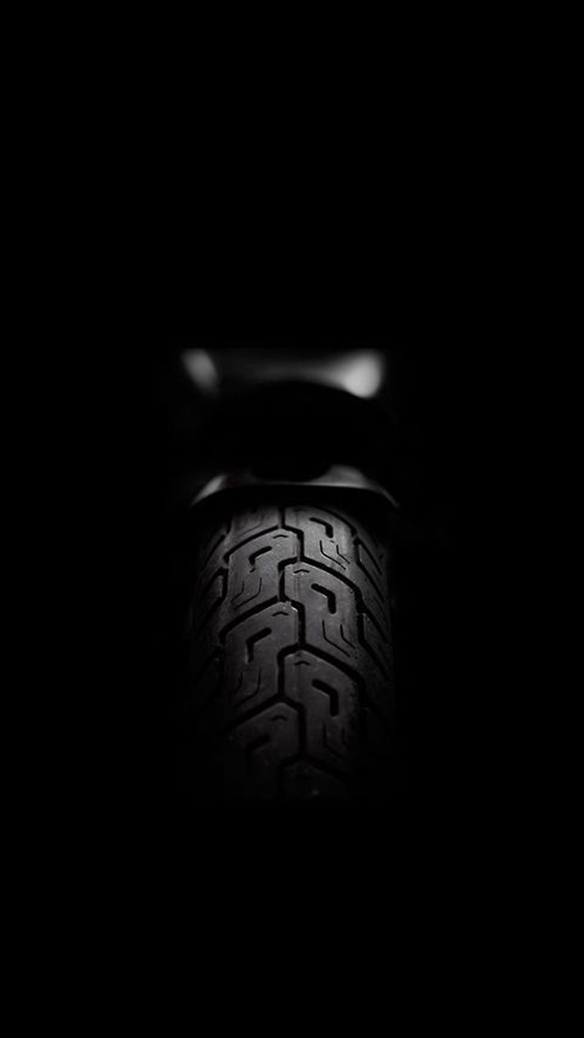 Motorcycle Rear Tire Dark iPhone 8 wallpaper