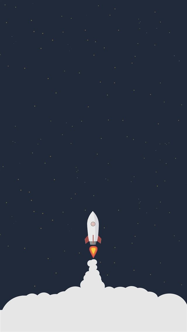 Rocket Liftoff Illustration iPhone 8 wallpaper
