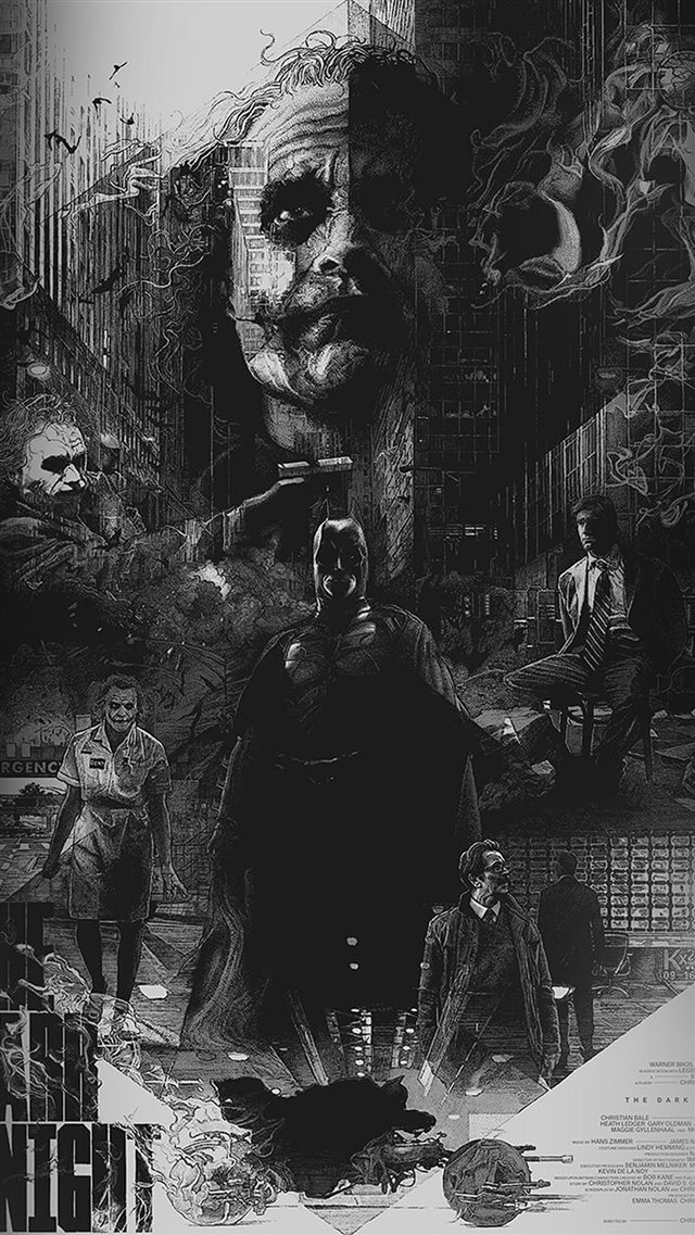 Joker Batman Poster Film Hero Illustration Art iPhone 8 wallpaper