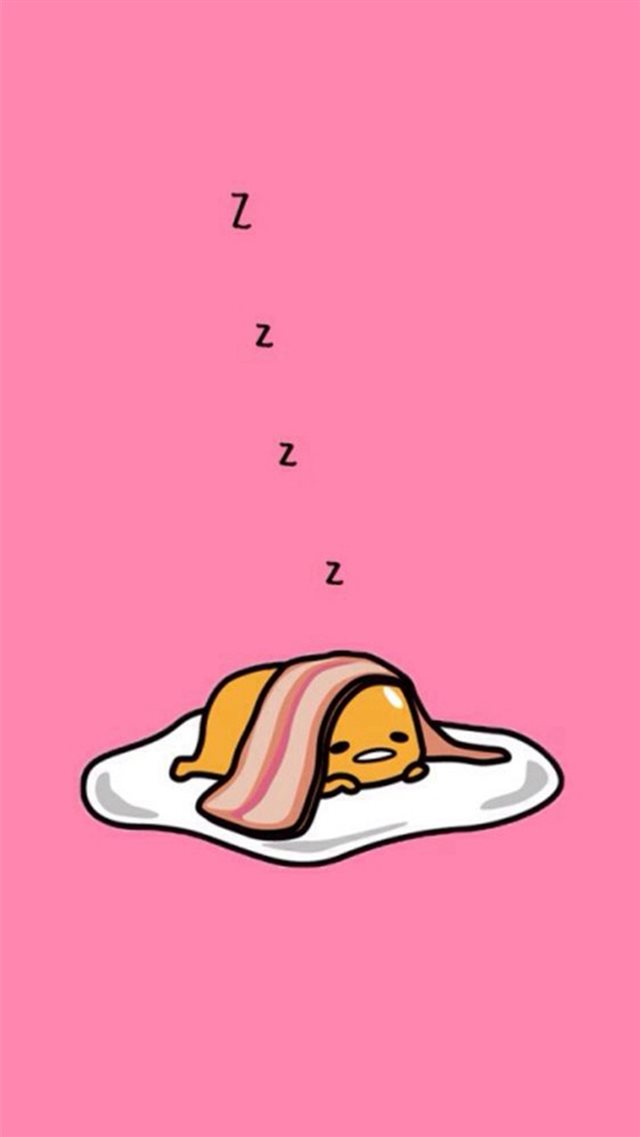 Bacon And Eggs Sleeping iPhone 8 wallpaper
